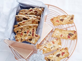 Christmas glace fruit biscotti