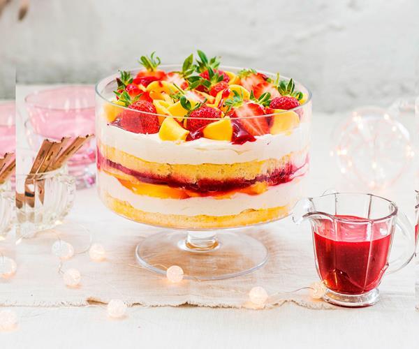 Strawberry Mango Trifle: Vanilla, Mango And Berry Trifle Recipe