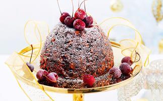 Rich Christmas pudding