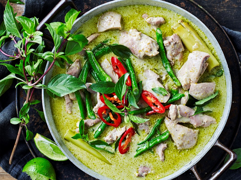 "Infused with traditional Thai flavours, this [Thai green chicken curry recipe](https://www.womensweeklyfood.com.au/recipes/thai-green-chicken-curry-1844|target=""_blank"") is the real deal!"