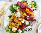 Christmas celebration salad with maple dressing