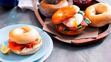 Build-your-own bagel brunch