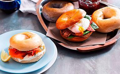 Build-your-own bagel brunch