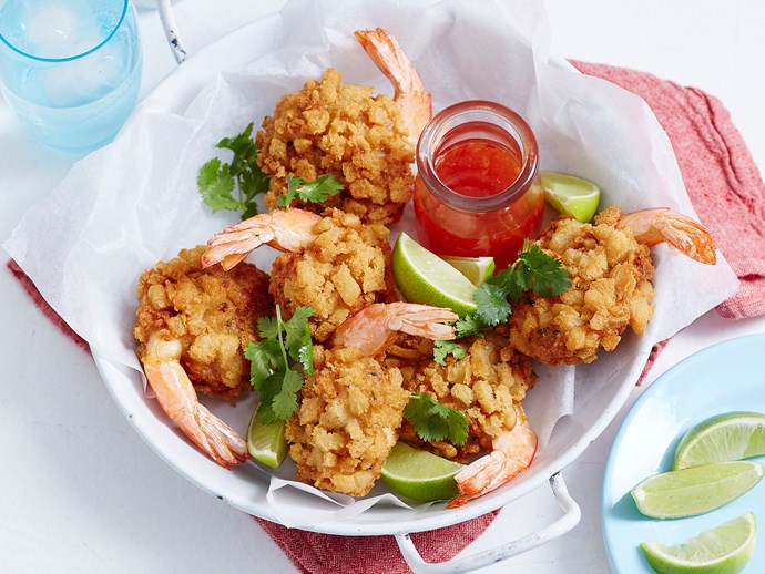 """**[Crispy prawn balls](http://www.foodtolove.com.au/recipes/crispy-prawn-balls-33009