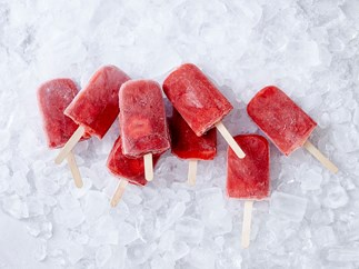 strawberry ice blocks