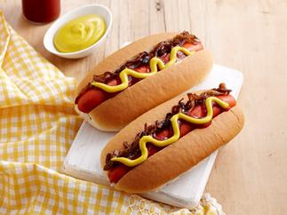 American-style hot dogs