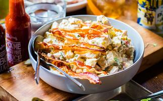 Spud salad with crispy pancetta