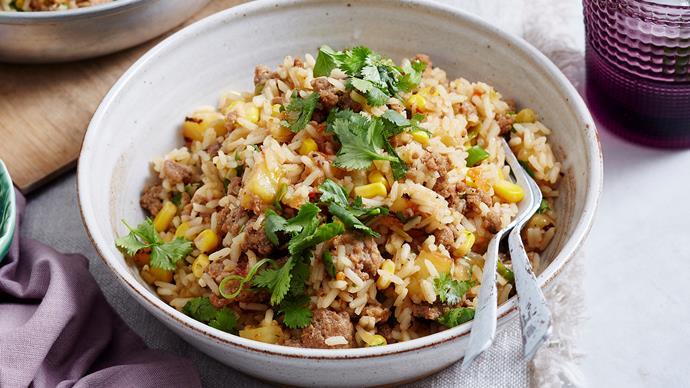 Caribbean pork and pineapple rice