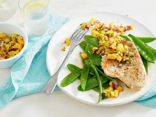 Turkey fillet with mango salsa