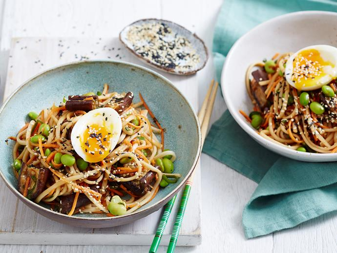 "Ready in under 30 minutes, this delicious Asian-inspired [eggplant noodle salad](https://www.womensweeklyfood.com.au/recipes/miso-eggplant-and-noodle-salad-1928|target=""_blank"") proves that healthy eating doesn't have to be difficult (or bland). You'll love tucking into this refreshing vegetarian dish for lunch or dinner."