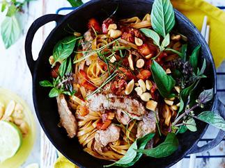 Thai lamb stir-fry