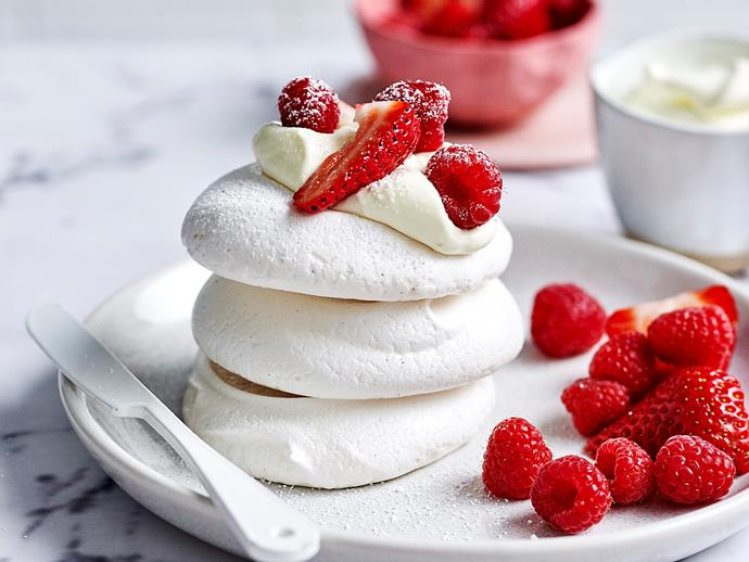 "**[Vegan egg-free meringues](https://www.womensweeklyfood.com.au/recipes/vegan-egg-free-meringues-1947|target=""_blank"")**  We used aquafaba and cream of tartar as tasty alternatives in these 100% vegan meringues. Serve topped with your favourite summer fruits for a light sweet treat in these warm months!"
