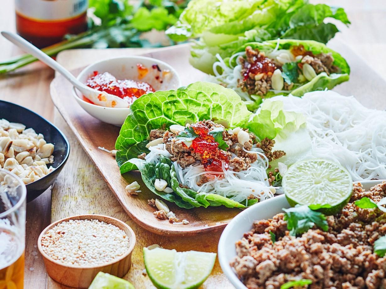 "[Thai-style pork lettuce cups.](http://www.foodtolove.co.nz/recipes/thai-style-pork-lettuce-cups-35912 target=""_blank"")"