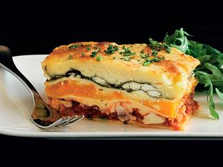 Mecca Café Viaduct's chicken lasagne with pumpkin and spinach