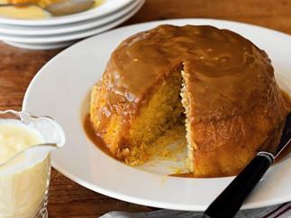 Butterscotch steamed pudding