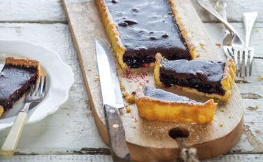 Cherry chocolate tart