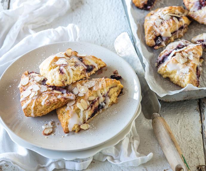 Cherry almond shortcakes