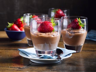 Chocolate date mousse