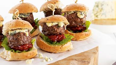Beef and blue cheese sliders