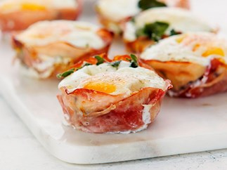 Eggy ham and cheese tarts