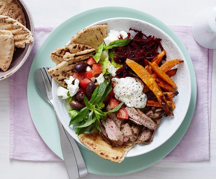 Greek mezze gyros bowls