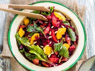 Raw beetroot and orange salad