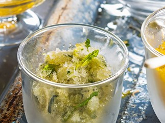 Cucumber and mint granita