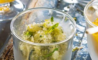Cucumber and mint granita