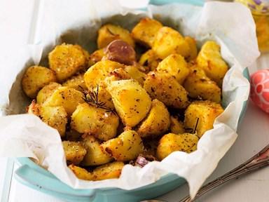 Crispy herb-roasted potatoes