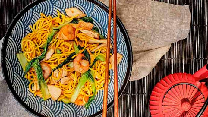 Hock chew fried noodles