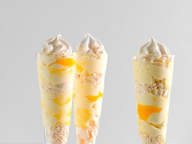 Smashed meringue and lemon parfaits