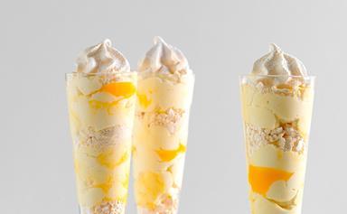 Smashed meringue and lemon parfaits
