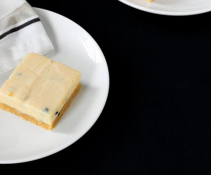 Springvale Garden Centre Café's gluten-free passionfruit slice