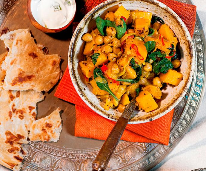 Butternut and chickpea curry