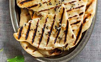 Cheese and garlic stuffed naan bread