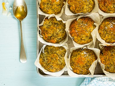 Lemon and poppy seed muffins