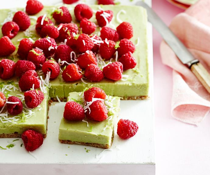 Avocado and lime mousse slice