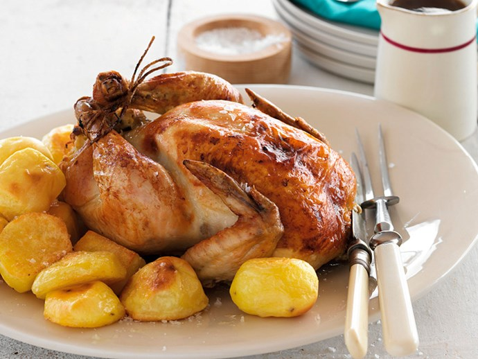 Classic roast chicken with sage stuffing