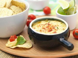 Warm mexican cheese dip