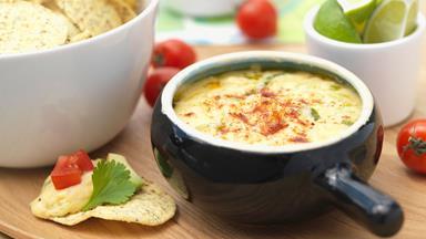 Warm Mexican cheese dip