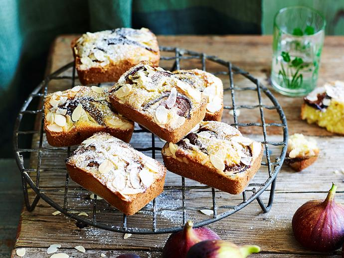 "Topped with fresh figs and flaked almonds, these [sweet gluten-free friands](https://www.womensweeklyfood.com.au/recipes/figgy-friands-2025|target=""_blank"") are the perfect addition to your morning or afternoon tea."