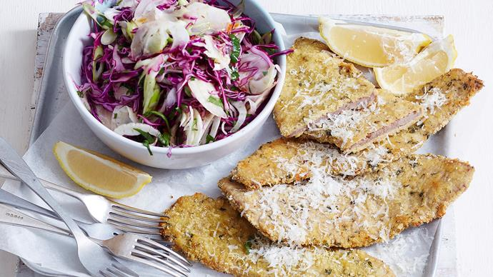 crumbed veal