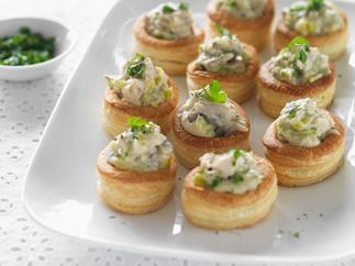 Mini chicken and mushroom vol-au-vents