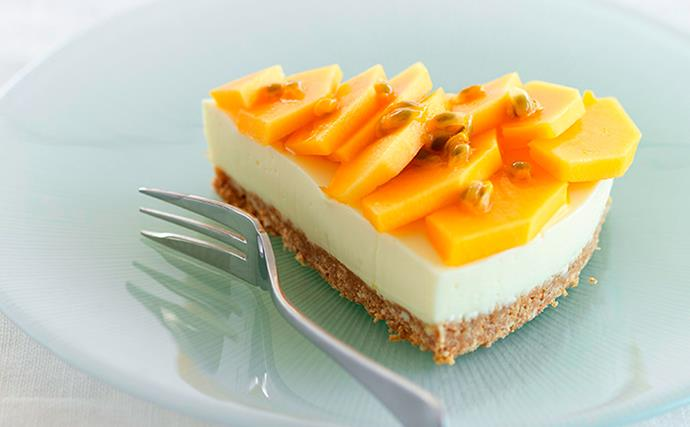 Lime and pawpaw cheesecake
