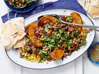 crispy Lebanese lamb and chickpeas