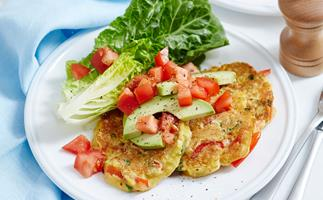 Capsicum and corn fritters