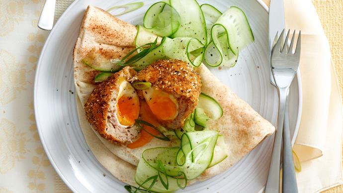 Tuna and za'atar scotch eggs