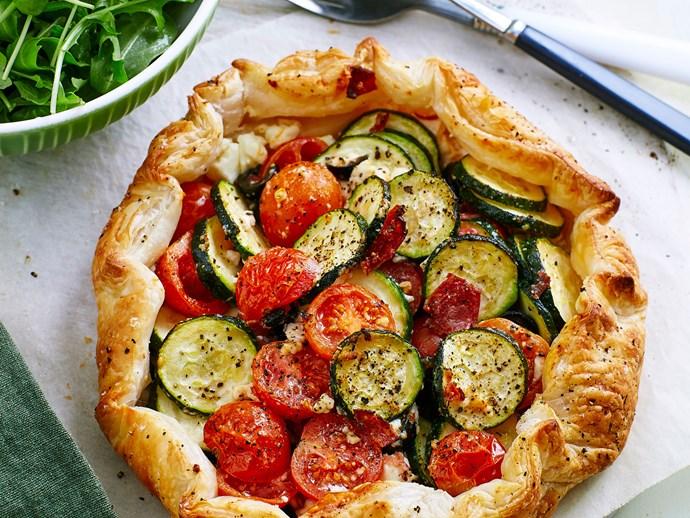 Free-form Mediterranean pie