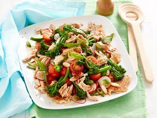 Broccolini and tuna fattoush salad