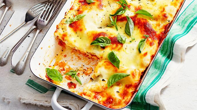 Ricotta and salami lasagne